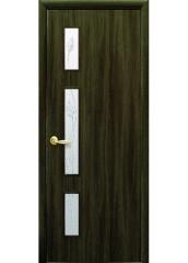 Межкомнатная дверь Квадра Герда со стеклом сатин Кедр