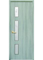 Межкомнатная дверь Квадра Герда со стеклом сатин ясень патина