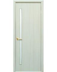 Межкомнатная дверь Квадра Глория со стеклом сатин Дуб жемч