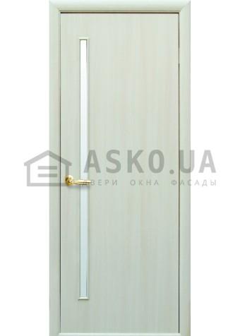 Межкомнатная дверь Квадра Глория со стеклом сатин Дуб жемч в Харькове фото