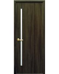 Межкомнатная дверь Квадра Глория со стеклом сатин Кедр