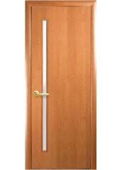 Межкомнатная дверь Квадра Глория со стеклом сатин Ольха