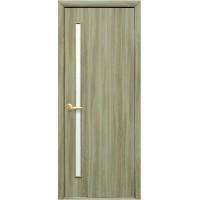Межкомнатная дверь Квадра Глория со стеклом сатин Сандал