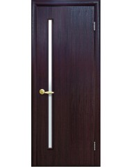 Межкомнатная дверь Квадра Глория со стеклом сатин Венге 3D