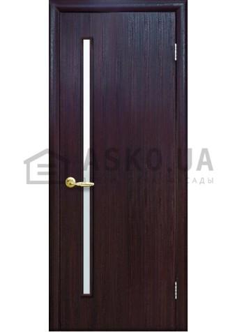 Межкомнатная дверь Квадра Глория со стеклом сатин венге DeWild в Харькове фото