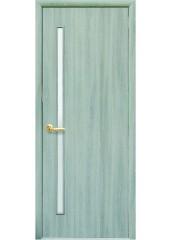 Межкомнатная дверь Квадра Глория со стеклом сатин Ясень патина