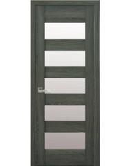 Межкомнатная дверь Лайт Бронкс стекло сатин дуб графит