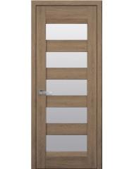 Межкомнатная дверь Лайт Бронкс стекло сатин дуб янтарный