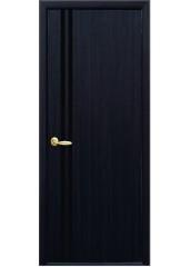 Межкомнатная дверь Квадра Вита с черным стеклом венге DeWild