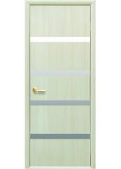Межкомнатная дверь Квадра Нота с зеркалом Дуб жемчужный
