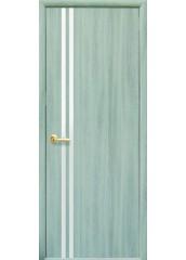 Межкомнатная дверь Квадра Вита с зеркалом Ясень патина