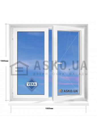 Окно VEKA в 5-этажку  МП(ПВХ) 1000мм х 1000мм в Харькове фото