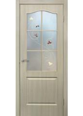 Двери межкомнатные «Омис»Классика СС+КР дуб беленый