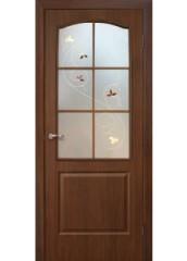Двери межкомнатные «Омис»Классика СС+КР орех