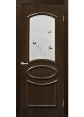 Двери межкомнатные «Омис»Лика СС+КР каштан