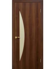 Двери межкомнатные «Омис»Парус ПО орех