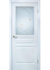 Двери межкомнатные «Омис»Барселона СС+КР белый