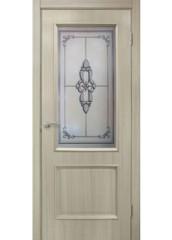 Двери межкомнатные «Омис»Версаль СС+КР дуб беленый