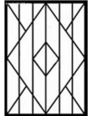 Кованная решетка №33