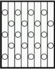 Кованная решетка №43