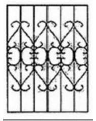 Кованная решетка №52
