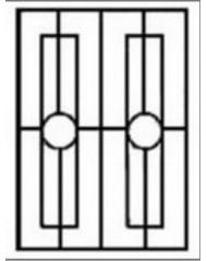Кованная решетка №54