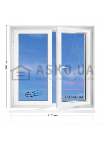 Окно WHS в 5-этажку Хрущевка. МП(ПВХ) 1100мм х 1400мм в Харькове фото