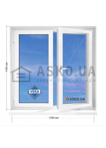 Окно VEKA в 9-ти, 12-ти  этажка Улучшенка. МП(ПВХ) 1200мм х 1450мм в Харькове фото
