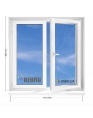 Окно REHAU в 9-ти, 12и этажка Чешка. МП (ПВХ) 1510мм х 1550мм