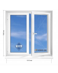 Окно VEKA в 9-ти, 12и этажка Чешка. МП (ПВХ) 1510мм х 1550мм