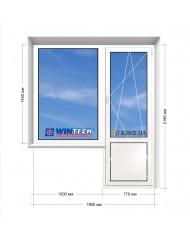 Окно WINTECH в 16-ти этажку. Балконный блок 1900мм х 2160мм