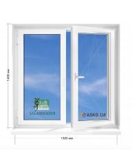Окно SALAMANDER в 5-этажку Хрущевка. МП(ПВХ) 1300мм х 1400мм