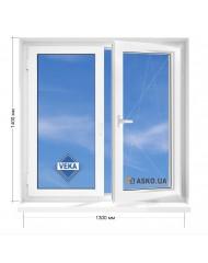 Окно VEKA в 5-этажку Хрущевка. МП(ПВХ) 1300мм х 1400мм