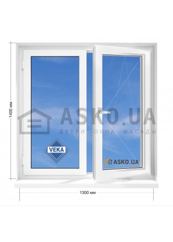 Окно VEKA в 5-этажку Хрущевка. МП(ПВХ) 1300мм х 1400мм в Харькове фото