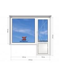 Окно WINBAU в 16-ти этажку. Балконный блок 2100мм х 2160мм