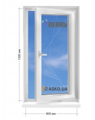 Окно REHAU в частный  дом окно поворотно-откидное 800мм х1300мм