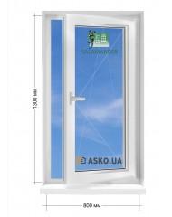 Окно SALAMANDER в частный  дом окно поворотно-откидное 800мм х1300мм
