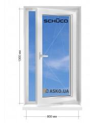 Окно SCHUCO в частный  дом окно поворотно-откидное 800мм х1300мм