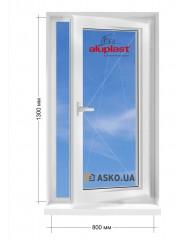 Окно Aluplast в частный  дом окно поворотно-откидное 800мм х1300мм