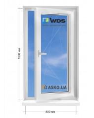 Окно WDS в частный  дом окно поворотно-откидное 800мм х1300мм