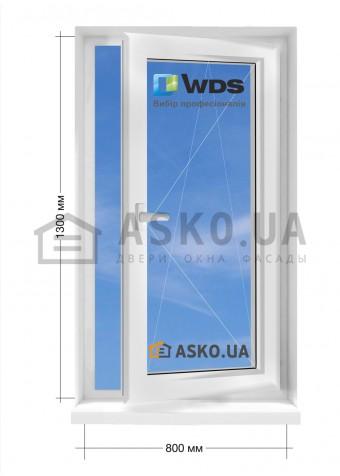 Окно WDS в частный  дом окно поворотно-откидное 800мм х1300мм в Харькове фото