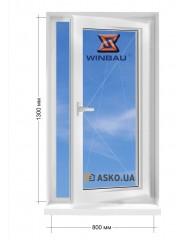 Окно WINBAU в частный  дом окно поворотно-откидное 800мм х1300мм