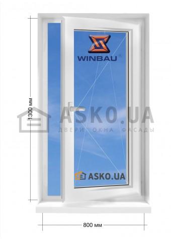 Окно WINBAU в частный  дом окно поворотно-откидное 800мм х1300мм в Харькове фото