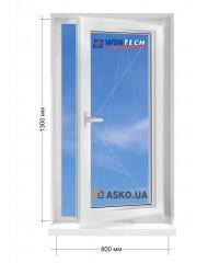 Окно WINTECH в частный  дом окно поворотно-откидное 800мм х1300мм