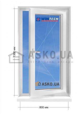 Окно WINTECH в частный  дом окно поворотно-откидное 800мм х1300мм в Харькове фото