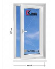 Окно KBE в частный  дом окно поворотно-откидное 800мм х1300мм