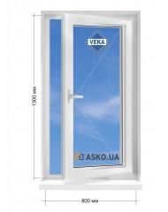 Окно VEKA в частный  дом окно поворотно-откидное 800мм х1300мм