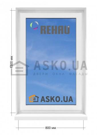 Окно REHAU в  частный дом. МП(ПВХ) глухое 800мм х1300мм в Харькове фото