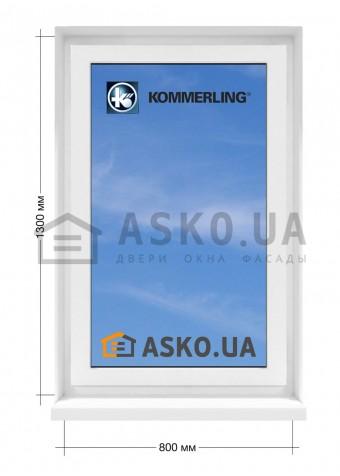 Окно KÖMMERLING в  частный дом. МП(ПВХ) глухое 800мм х1300мм в Харькове фото