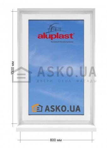 Окно Aluplast в  частный дом. МП(ПВХ) глухое 800мм х1300мм в Харькове фото